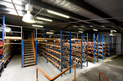 The site has 3 separate warehouses with new racking & storage facilities.